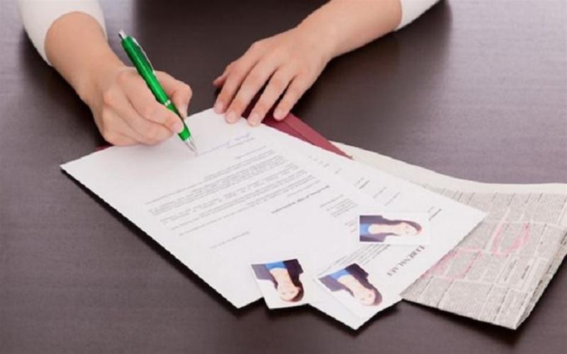 Kết cấu của một mẫu đơn xin việc file word